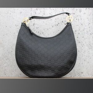 Gucci GG TWINS Medium Black Guccissima Hobo